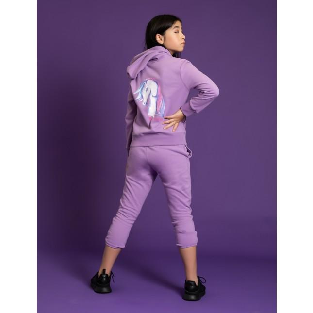 Girls Unicorn Hoodie Sweat Shirt in Purple