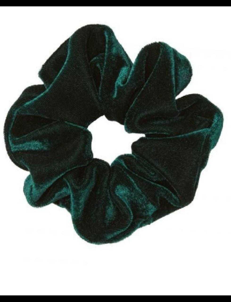 Luxe Velvet Scrunchie in Green