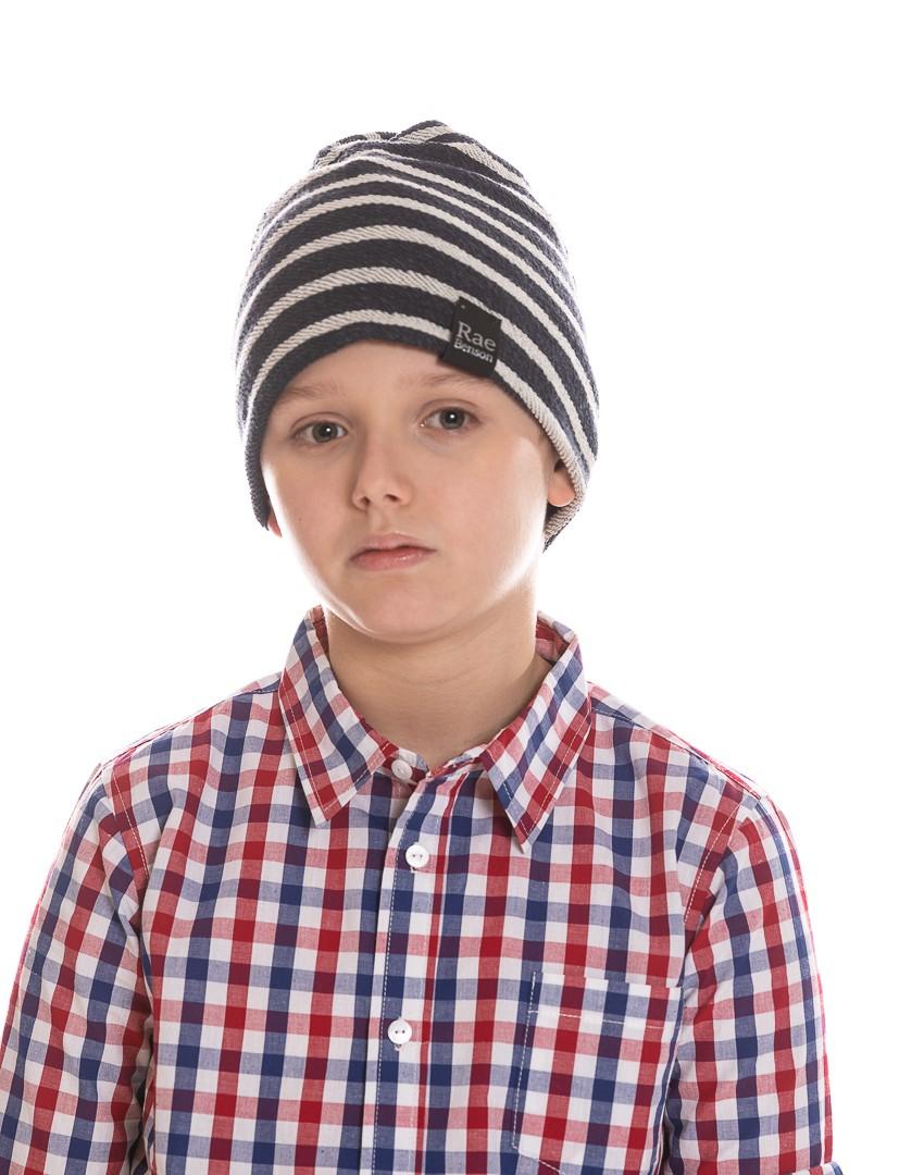 Multi Wear Beanie in Blue Stripe